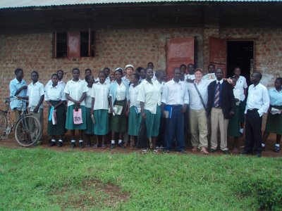 Invitation by one of the Entreprenuers, Richard, to a Middle-school in the Manafwa-district.